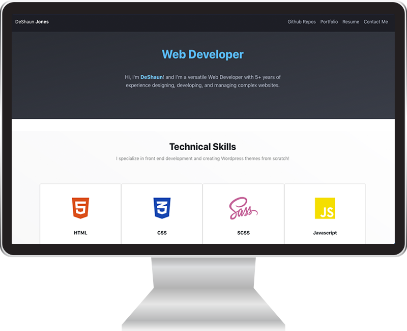 Front End Development Portfolio Image